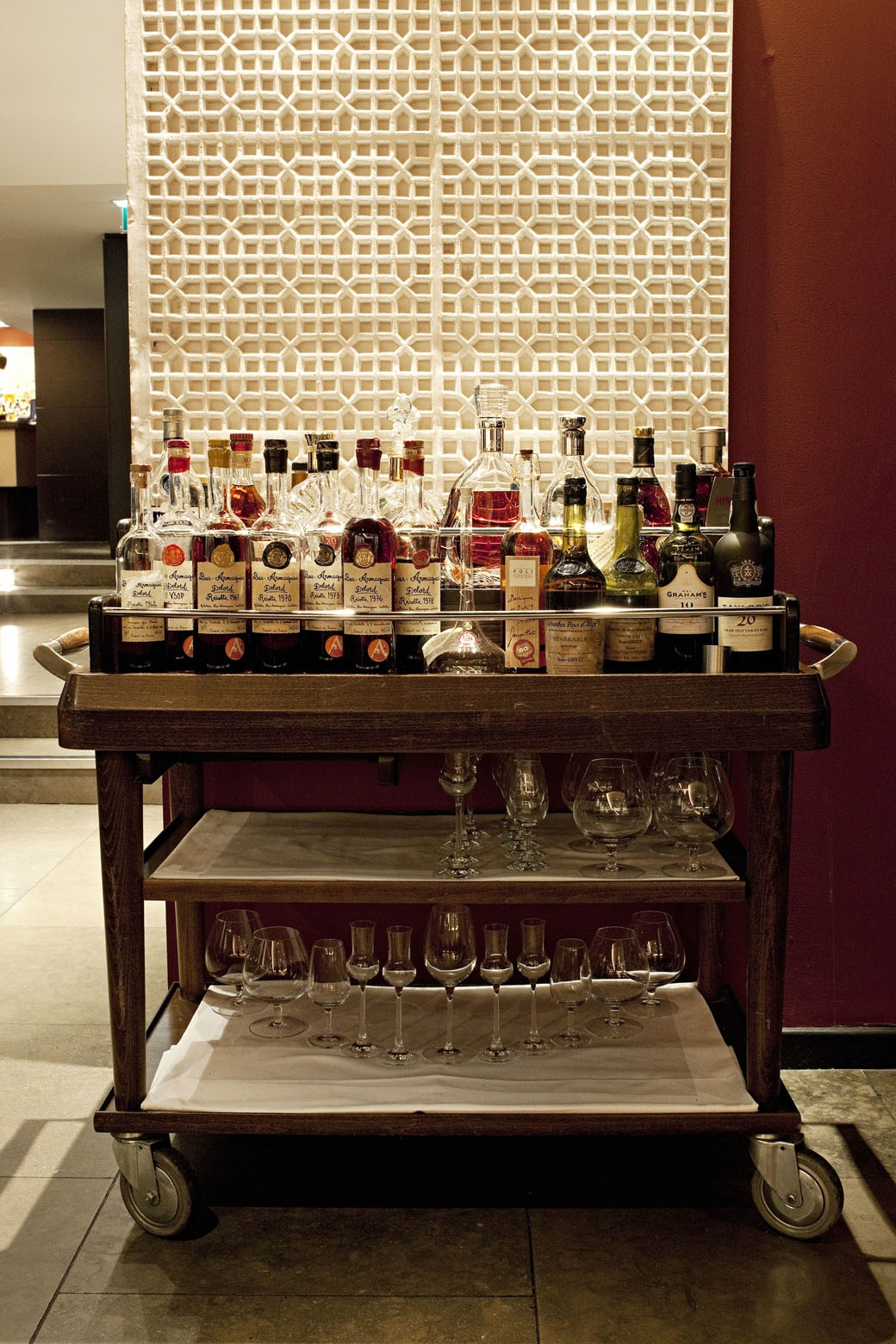 The whisky trolley at Benares