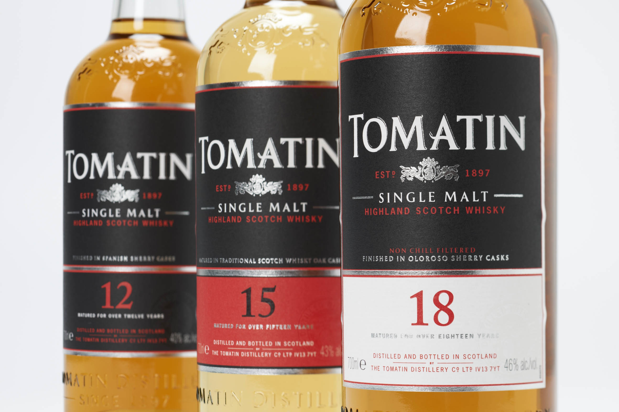 Tomatin 12, 15, 18