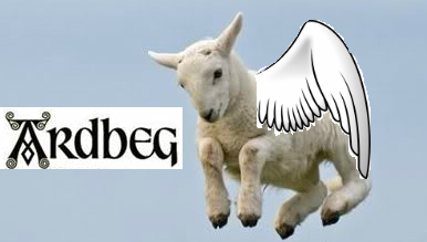 Ardbeg Day flying sheep