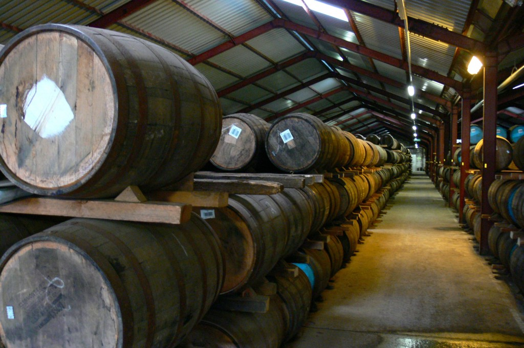 Casks at Glenburgie distillery