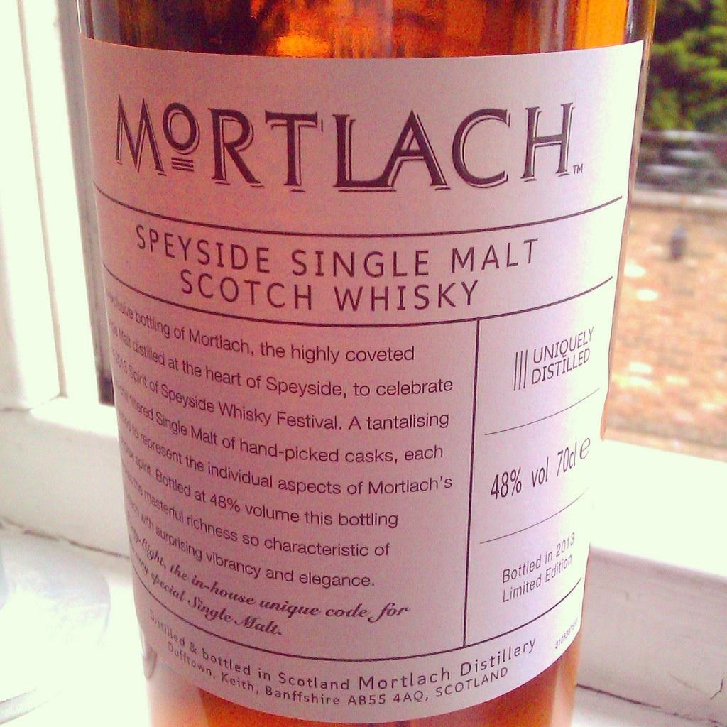 Mortlach Festival Bottling Dufftown Speyside Scotland
