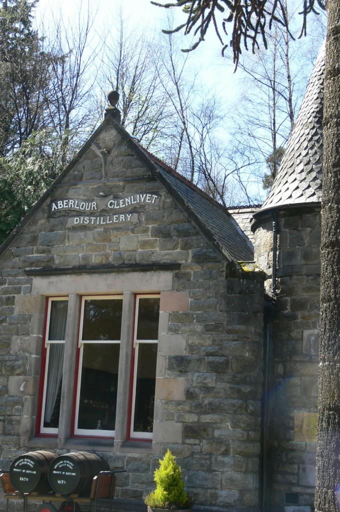 Aberlour whisky distillery front