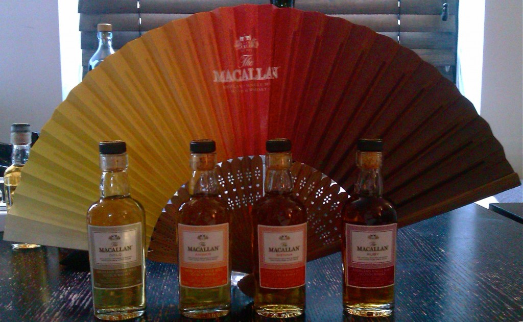 Macallan Colour Series in front of Colour fan