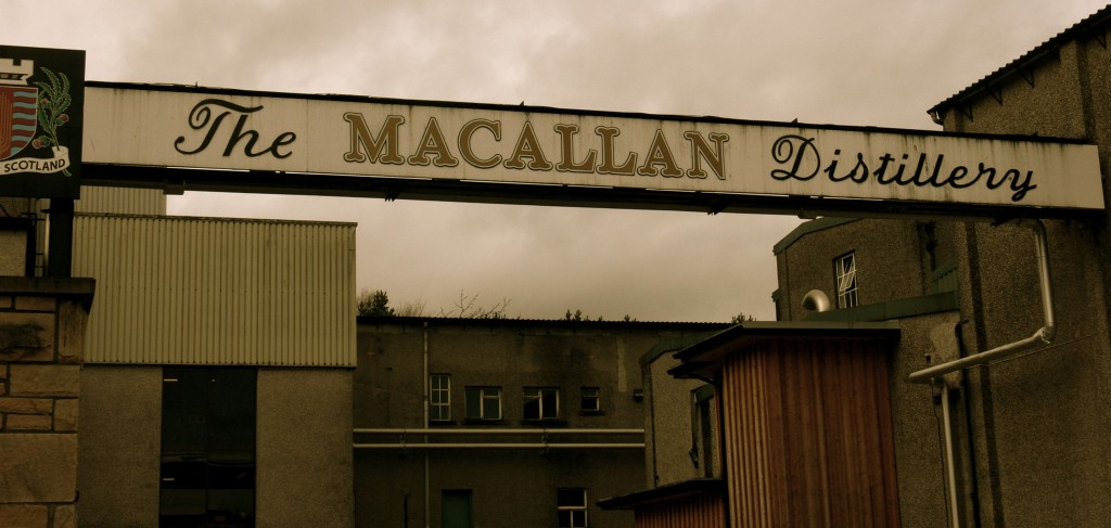 Entrance to the Macallan Distillery in Speyside