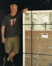 Phil Brandon of Rock Town Distillery with a shipment of spirits