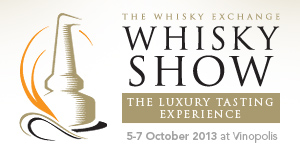 Whisky Show Banner with details of the Whisky Show 2013