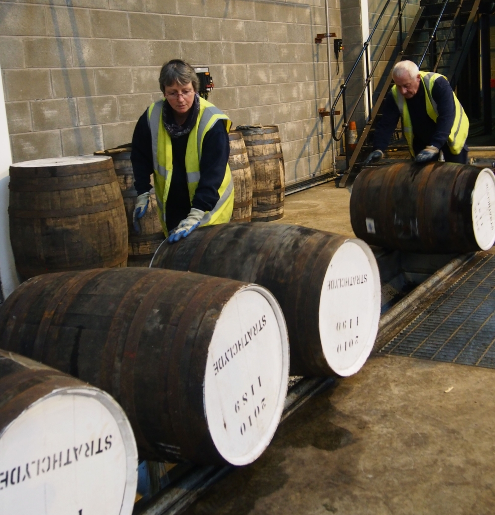 Glengoyne Casks in Warehouse