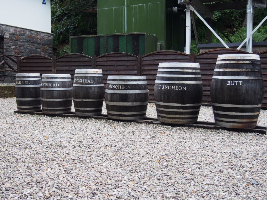 Glengoyne Casks outside