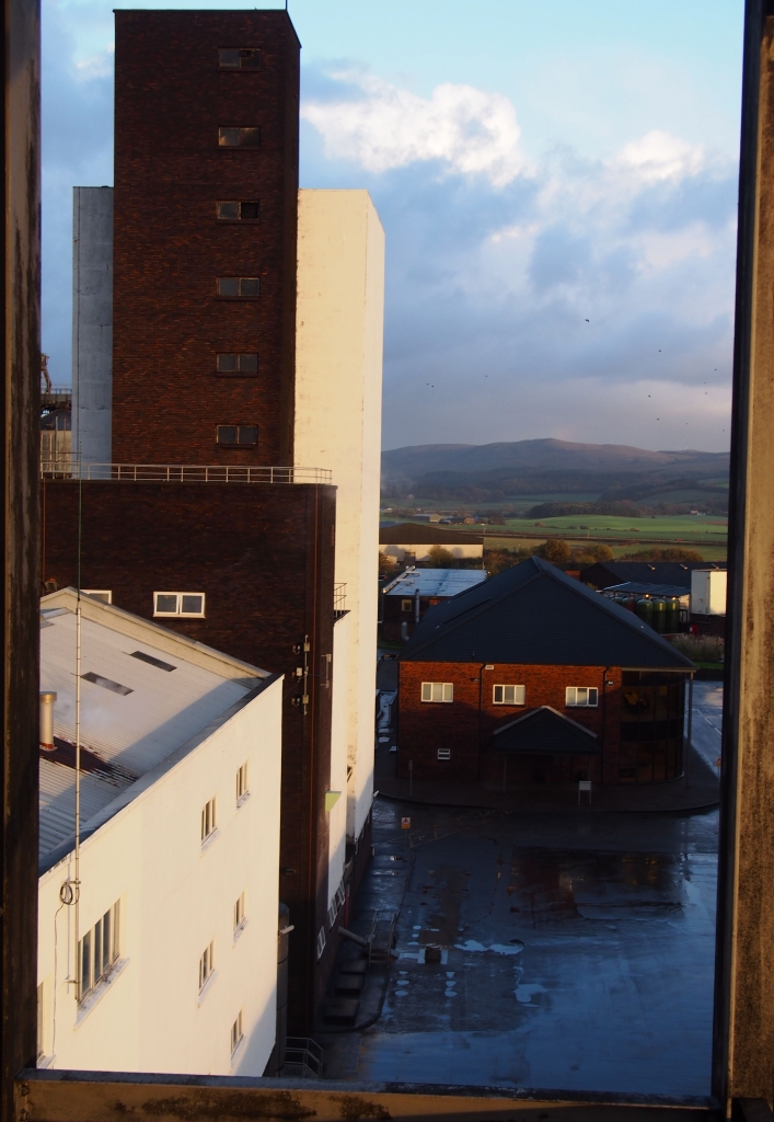 The view across the main buildings from the still tower.
