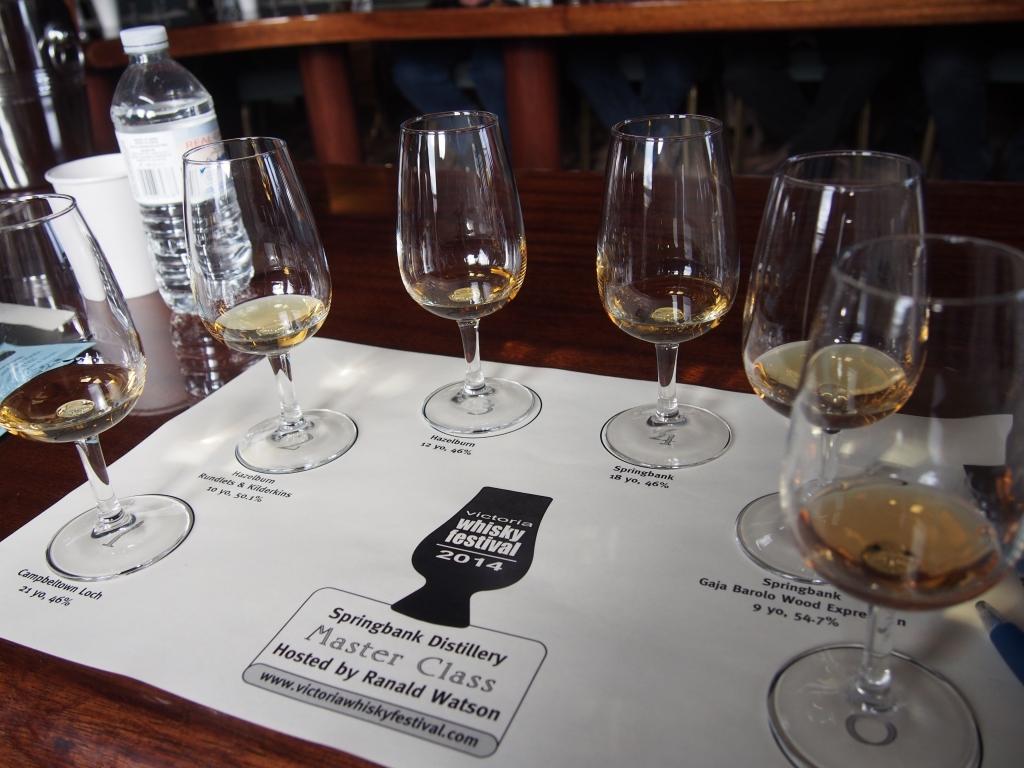 Victoria Whisky Festival Masterclass