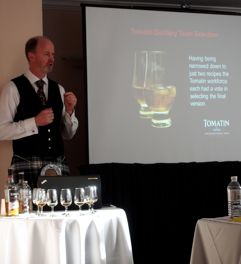 Graham Eunson, Tomatin Distillery Manager, talks whisky at Victoria Whisky Festival 2014.