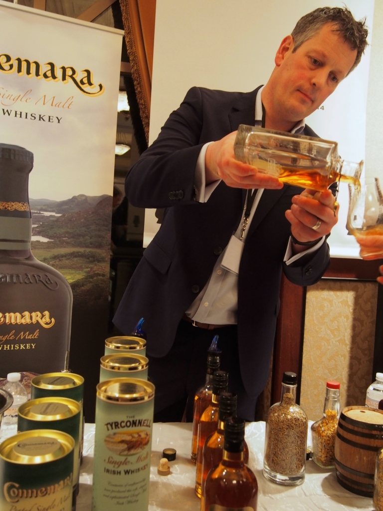John Cashman, Global Brand Ambassador, Kilbeggan Distilling Co, at the consumer event.
