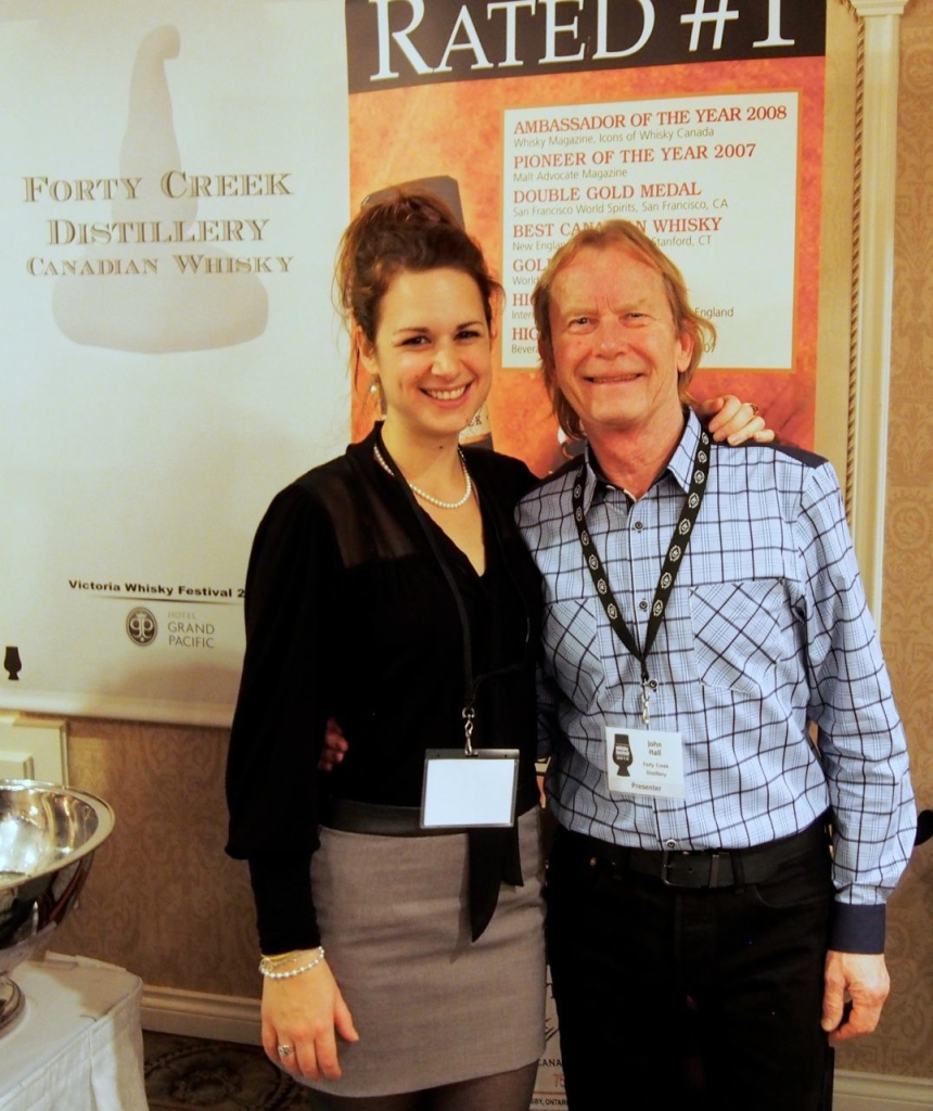 John Hall - Forty Creek master distiller, which took home awards at this year's Canadian Whisky Awards started by Davin.