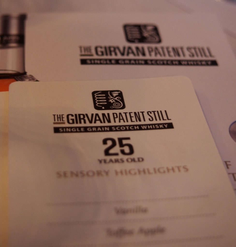 The Girvan Patent Still Single Grain which fully launched at Whisky Live London.