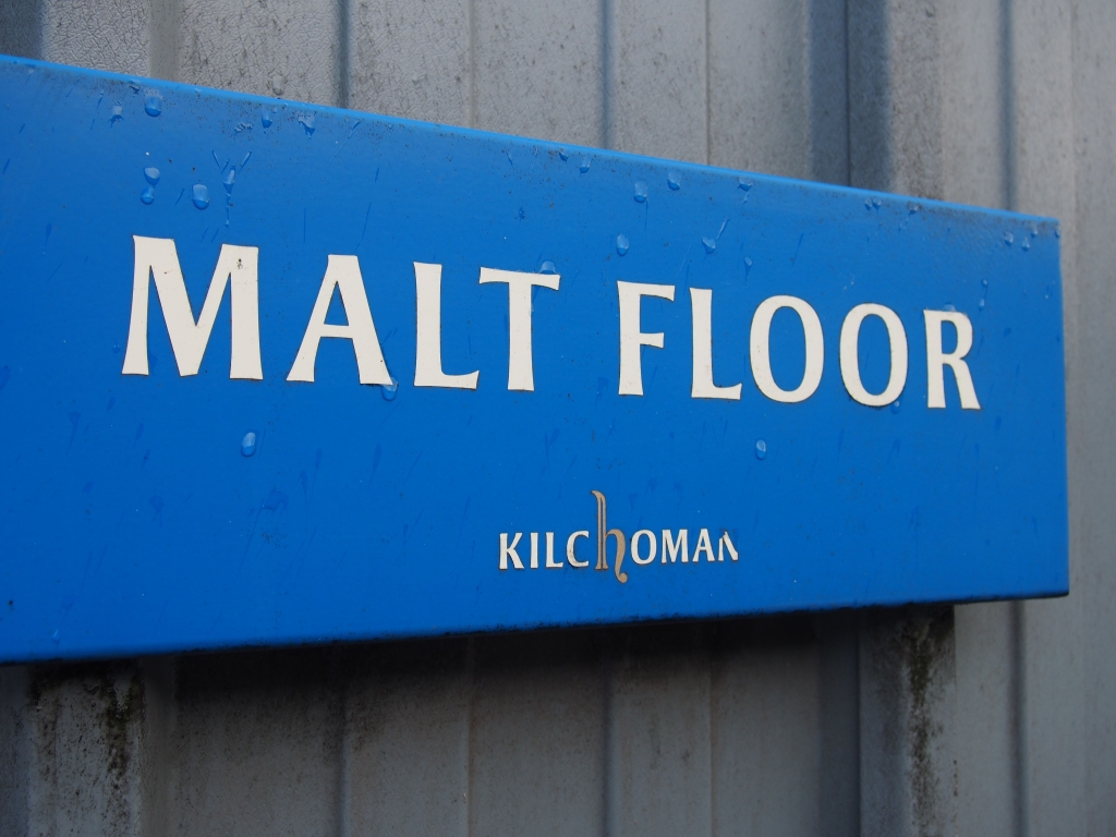 The sign for the malt floor, which wasn't in use during my visit.