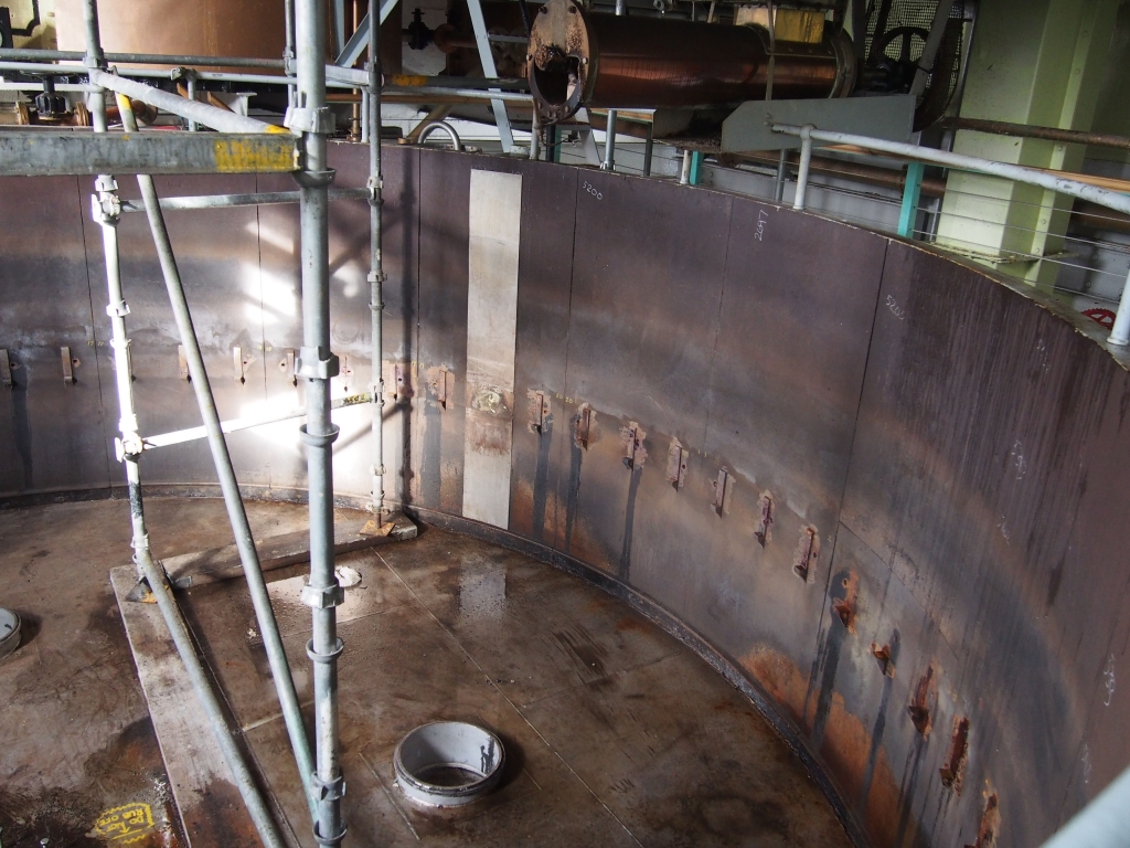 Repair work takes place at Bruichladdich.
