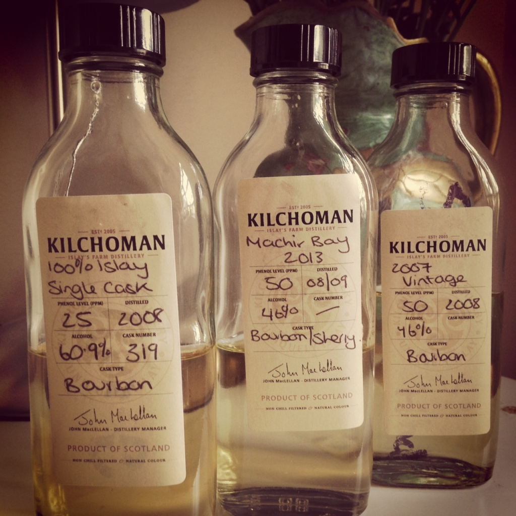 Kilchoman whiskies