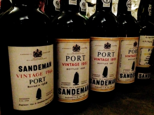 Port bottlings from the Sandeman family circa 1957