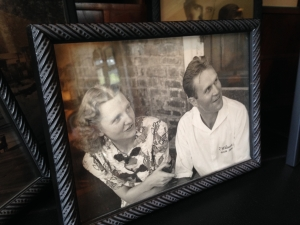 Bill & Marge Samuels in a photo at the distillery.