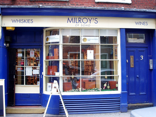 The Milroy's shop on Greek Street (photo credit: Ewan M)